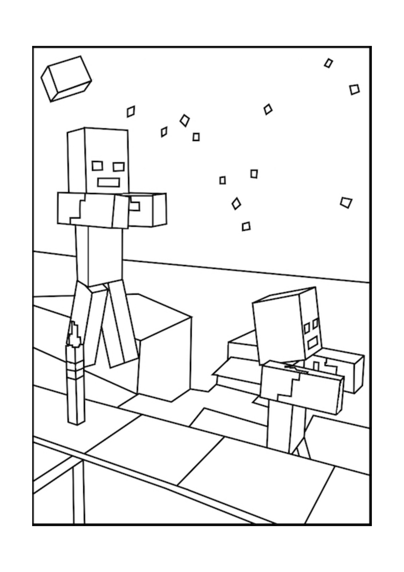 coloring zombie minecraft minecraft zombie coloring pages at getcoloringscom free minecraft zombie coloring