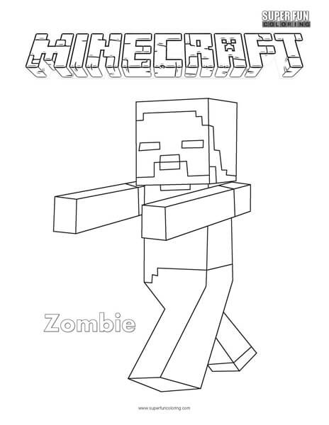 coloring zombie minecraft minecraft zombie pigman coloring pages coloring home zombie minecraft coloring