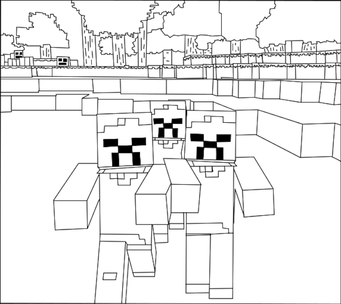 coloring zombie minecraft zombie coloring pages for celebrating halloween zombie coloring minecraft