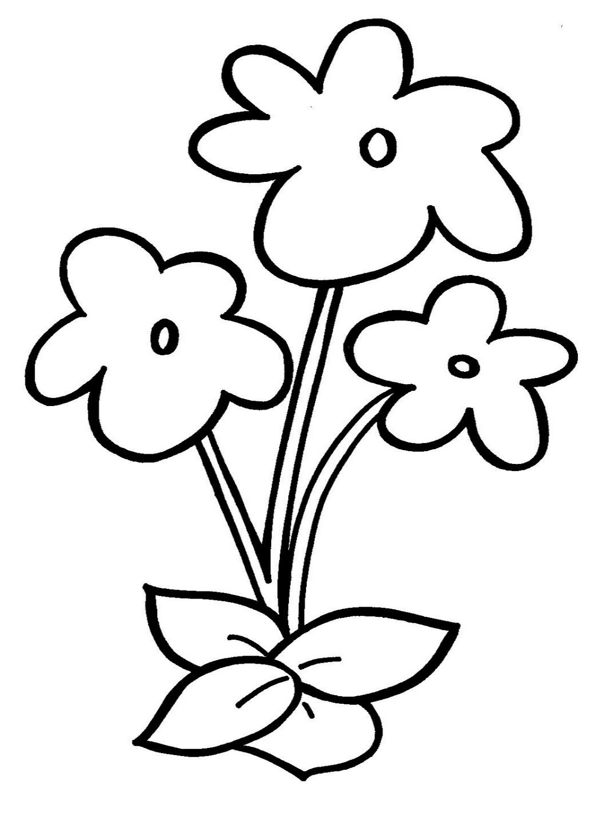 Colouring flowers pictures