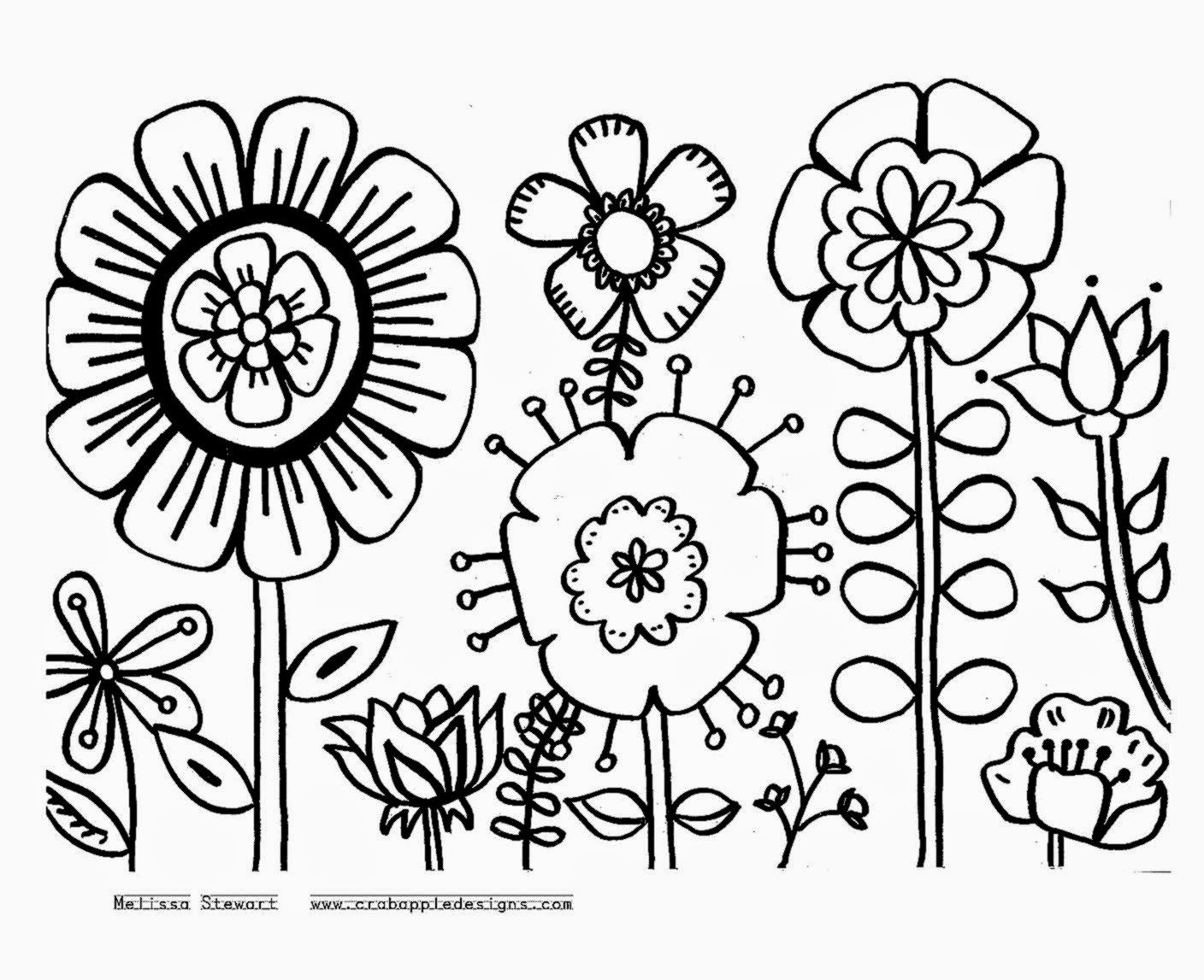colouring flowers pictures lilac flower coloring pages download and print lilac flowers colouring pictures