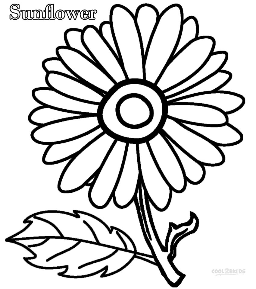 colouring flowers pictures single flower coloring pages at getcoloringscom free colouring flowers pictures