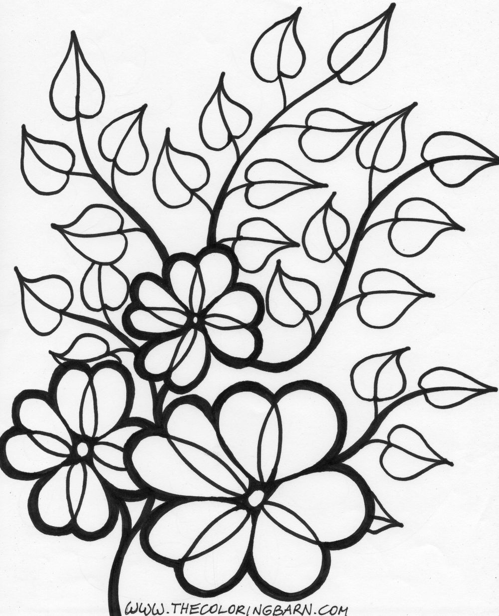 colouring flowers pictures single flower coloring pages at getcoloringscom free colouring pictures flowers