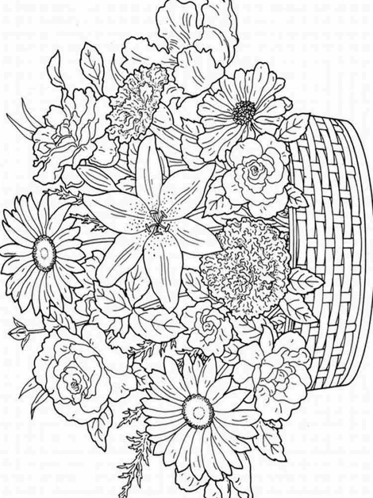 colouring flowers pictures your free coloring pages for creativity and fun colouring pictures flowers