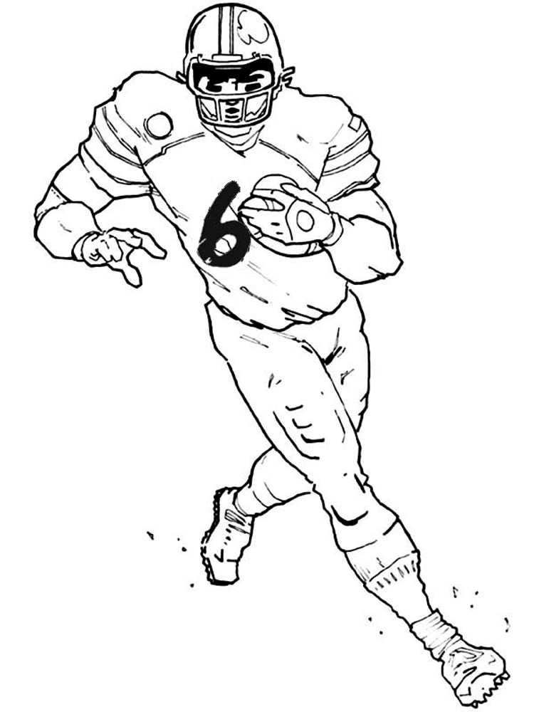 colouring football football player coloring pages free printable football football colouring 1 3