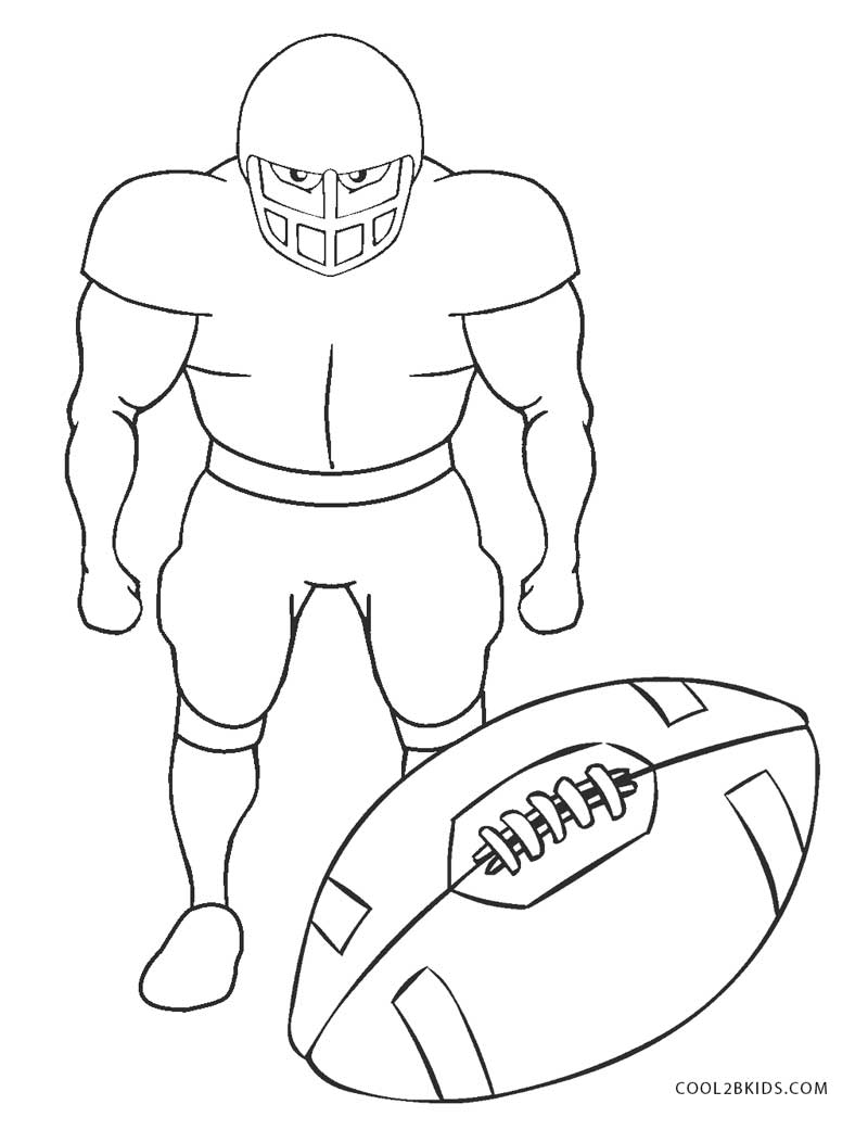 colouring football football player outline free download on clipartmag football colouring