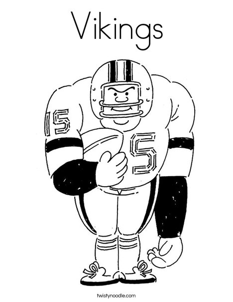 colouring football vikings coloring page twisty noodle football colouring