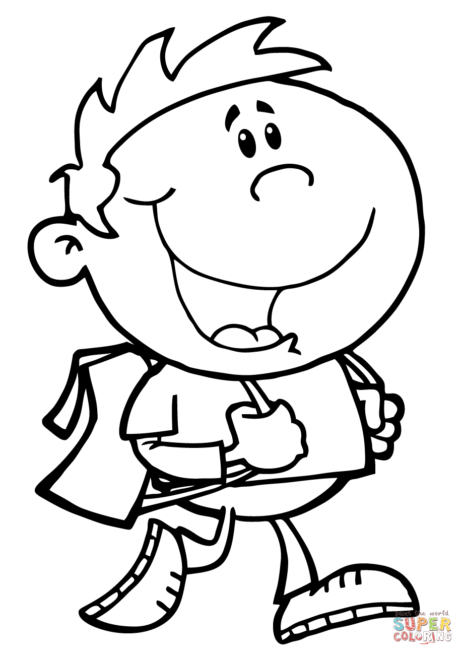 colouring page of a boy boy coloring pages to download and print for free a of page boy colouring