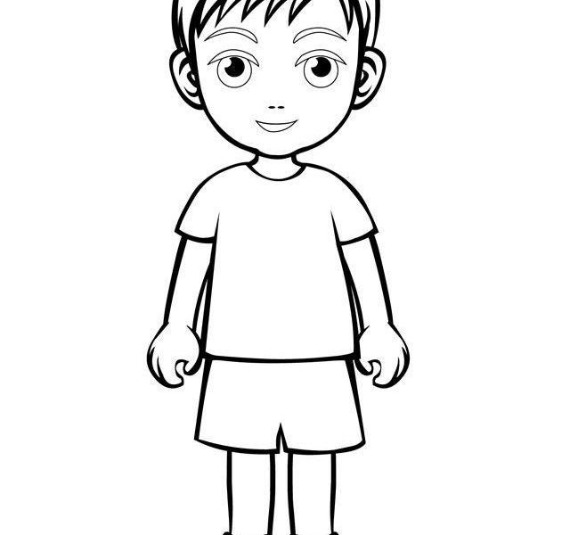 colouring page of a boy free printable boy coloring pages for kids cool2bkids boy page a colouring of