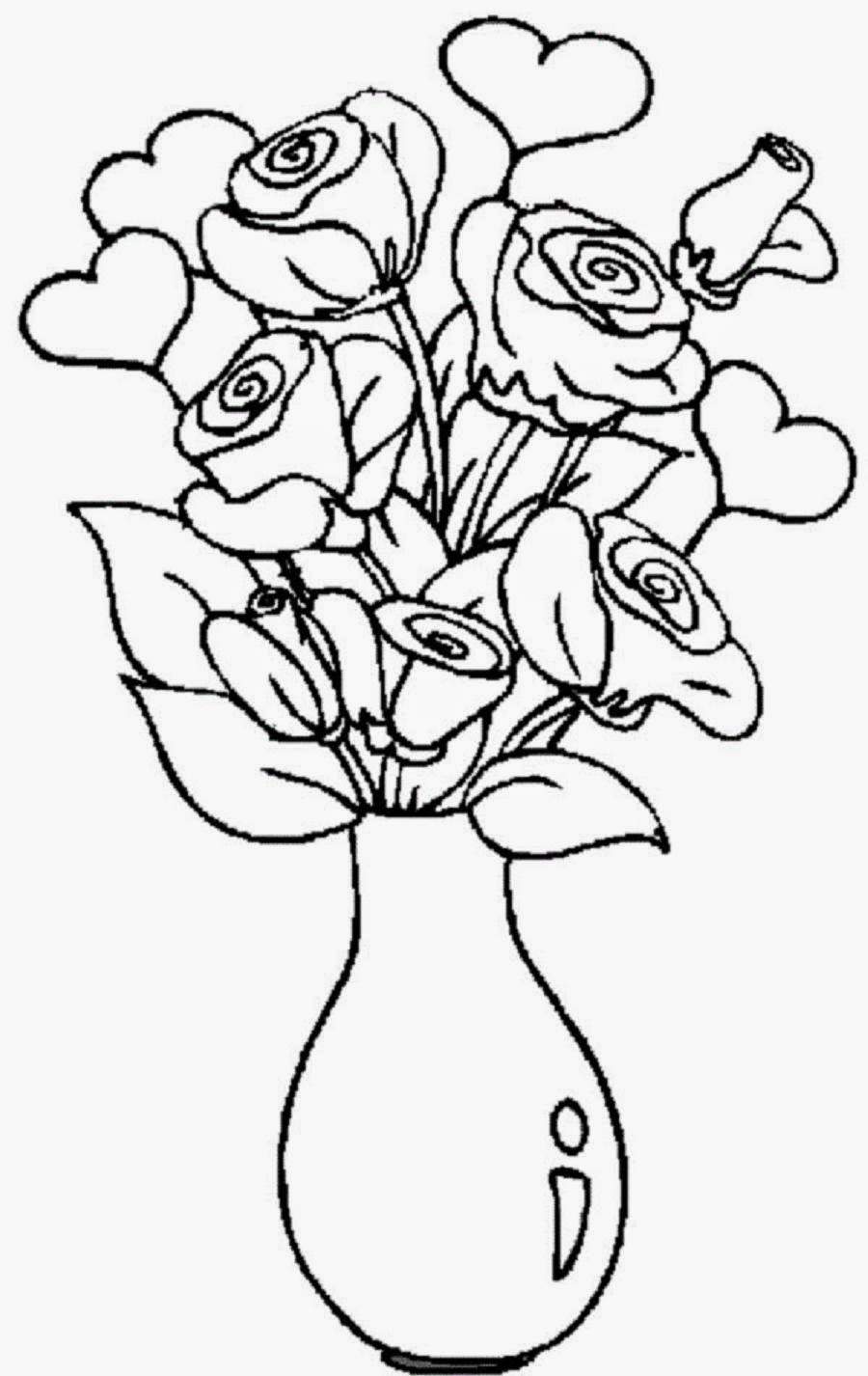 colouring pages flowers in a vase 8 flower vase template for kids sampletemplatess colouring in vase a pages flowers