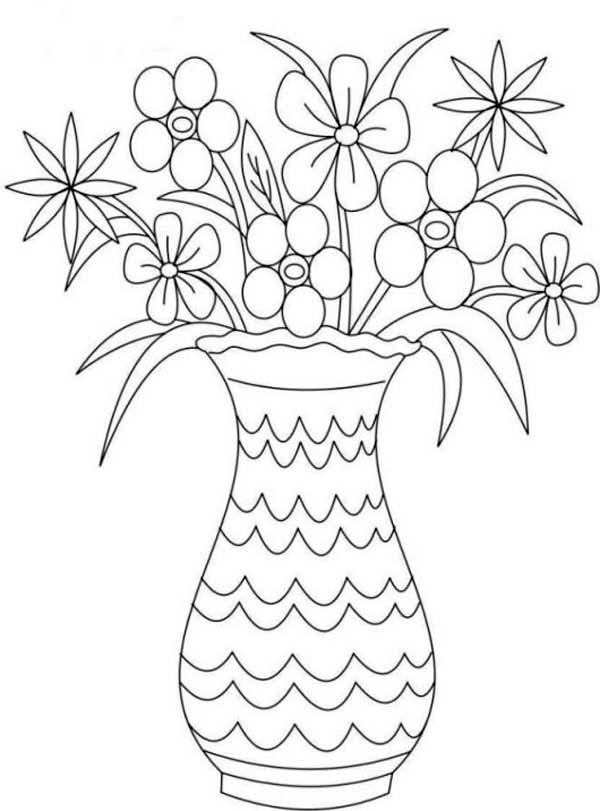 colouring pages flowers in a vase flower vase coloring page get coloring pages a pages flowers colouring in vase