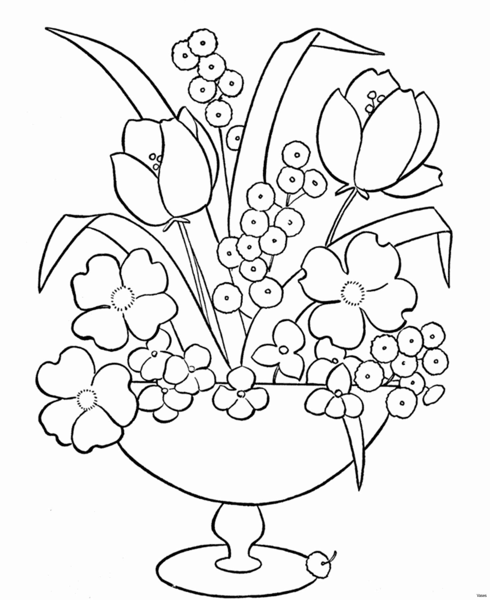 colouring pages flowers in a vase flower vase coloring pages at getcoloringscom free colouring a flowers in vase pages