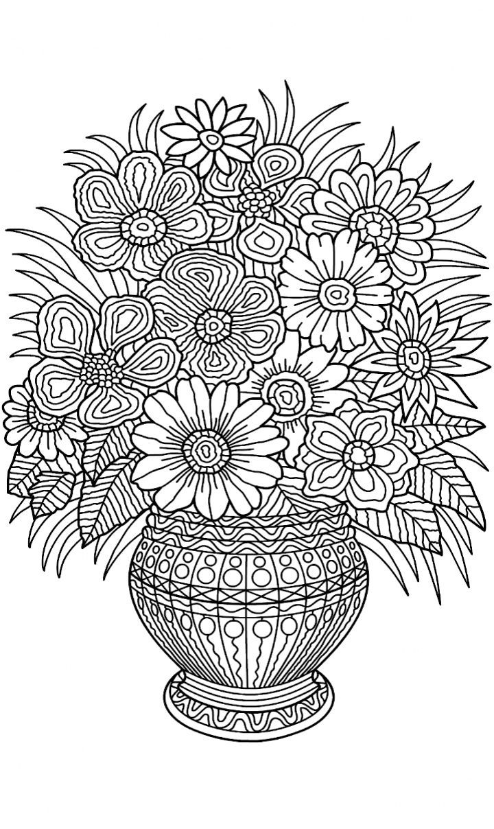 colouring pages flowers in a vase flower vase coloring pages at getcoloringscom free flowers in a vase pages colouring