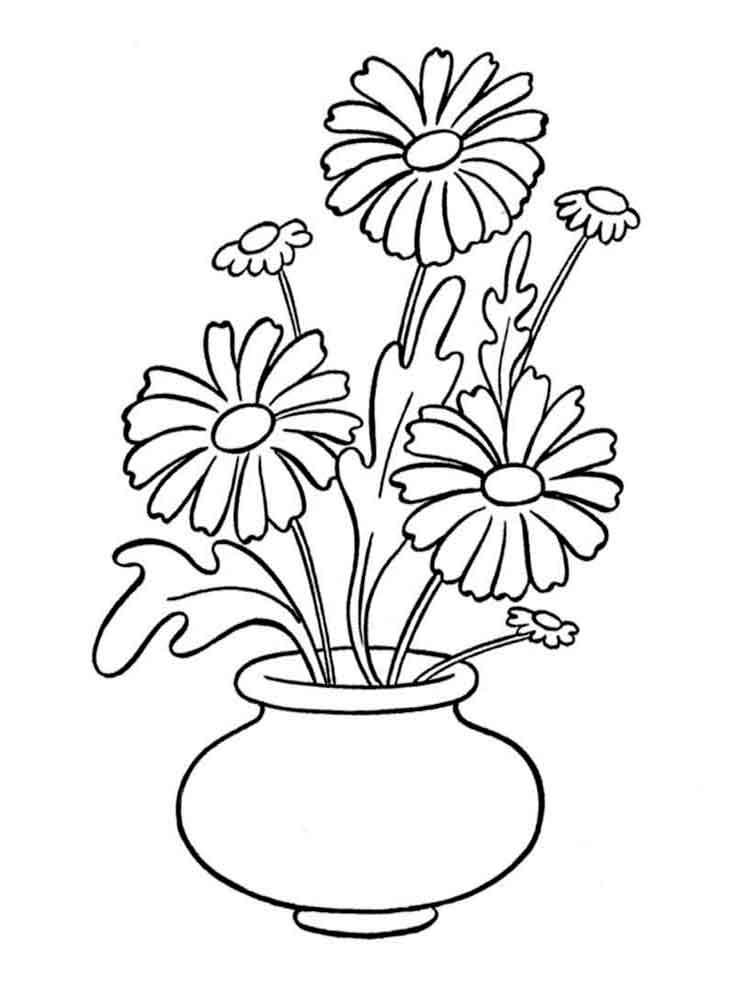 colouring pages flowers in a vase flower vase coloring pages at getcoloringscom free vase pages in flowers colouring a