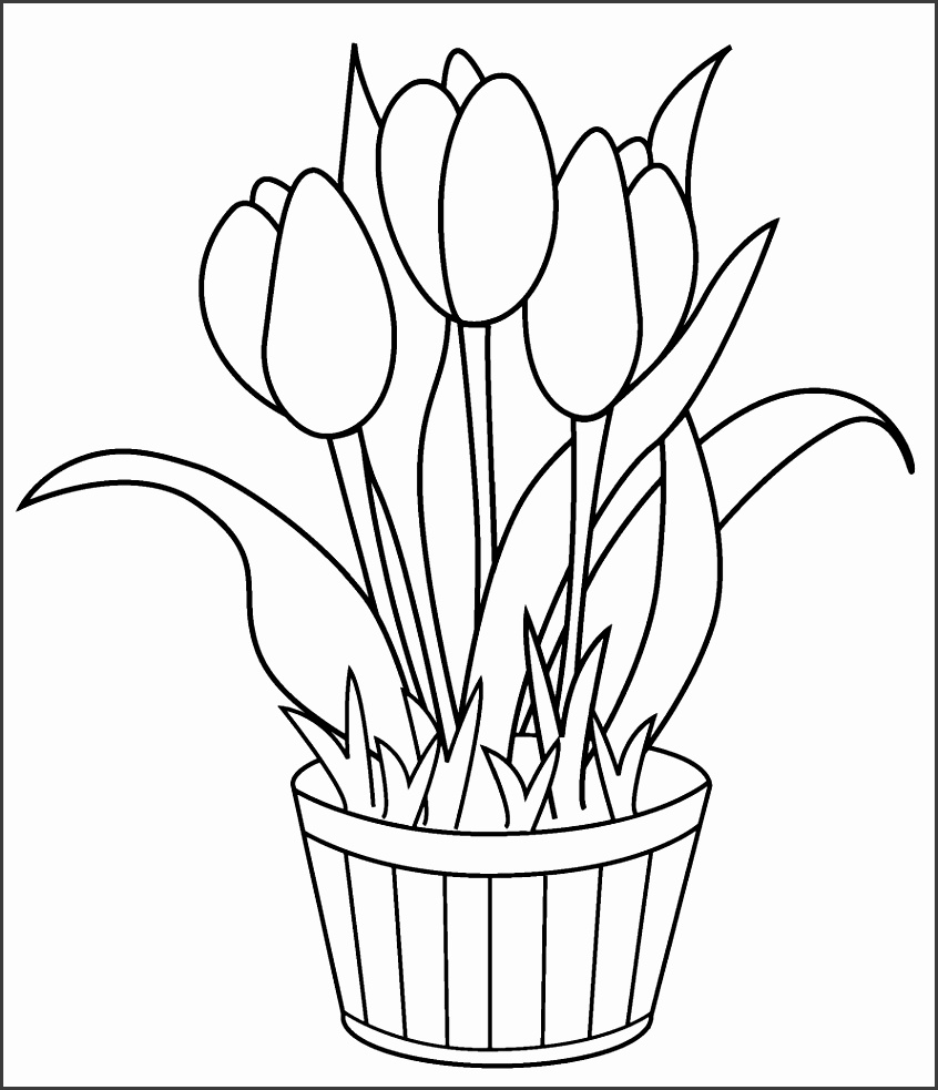 colouring pages flowers in a vase flowers in a vase coloring pages download and print a colouring in vase flowers pages