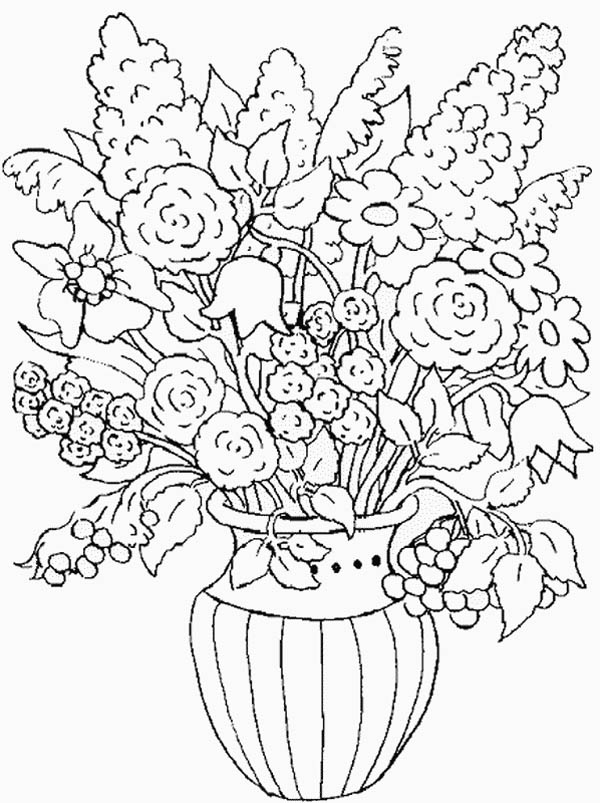 colouring pages flowers in a vase flowers in a vase coloring pages download and print flowers colouring pages in vase a