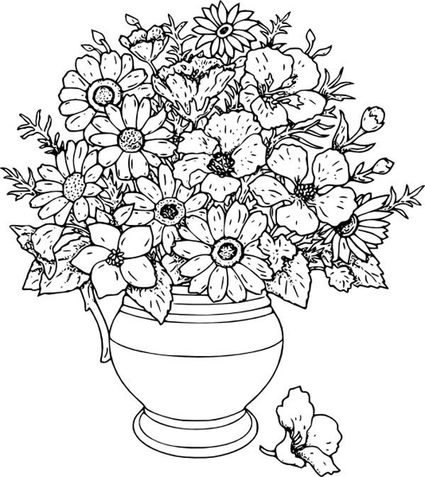 colouring pages flowers in a vase flowers in a vase coloring pages download and print pages colouring vase a flowers in