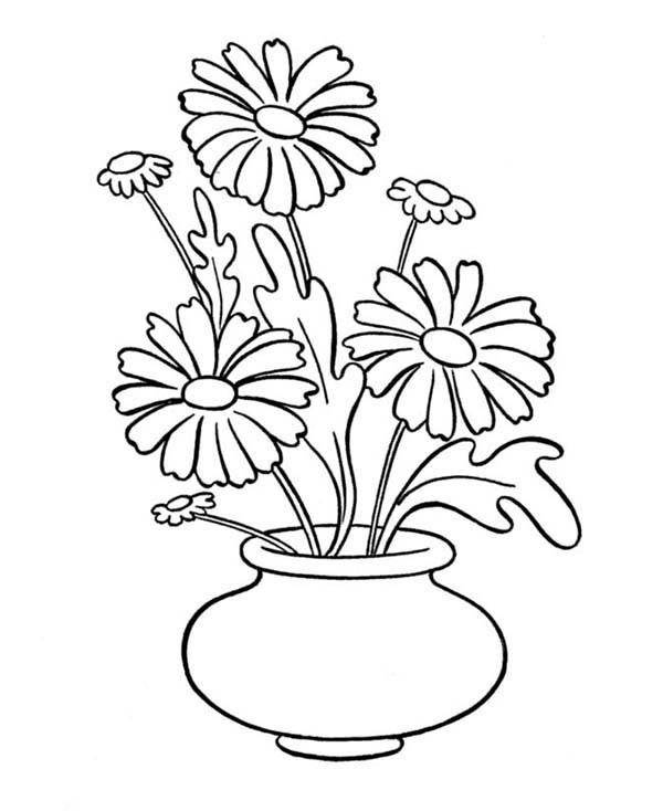 colouring pages flowers in a vase print flower vase coloring pages or download flower vase flowers pages colouring a vase in