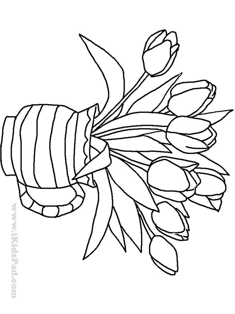 colouring pages flowers in a vase vase and flowers coloring page coloring home a vase pages flowers colouring in