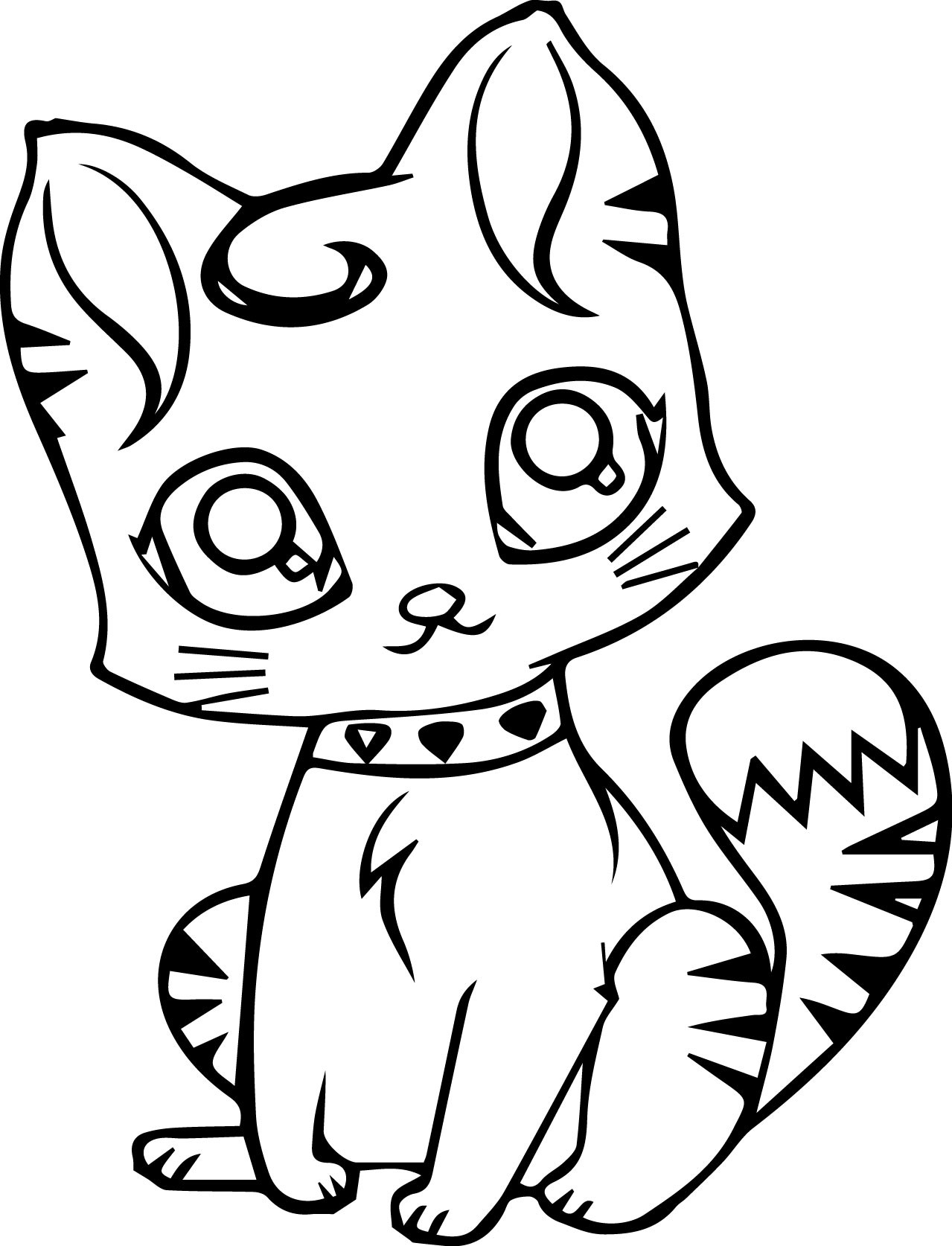 Colouring pages of cats