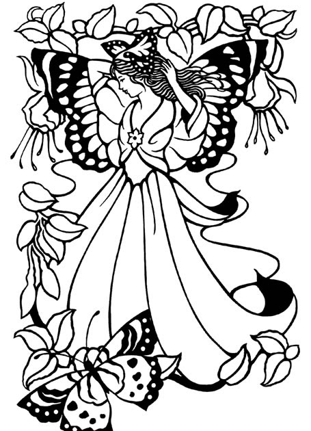 colouring pages of princesses and fairies barbie fairy princess coloring pages coloring home and colouring princesses pages of fairies