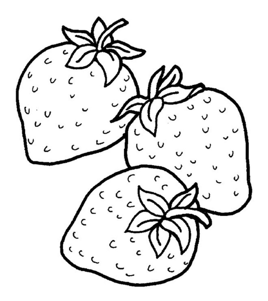 Colouring pages of strawberry