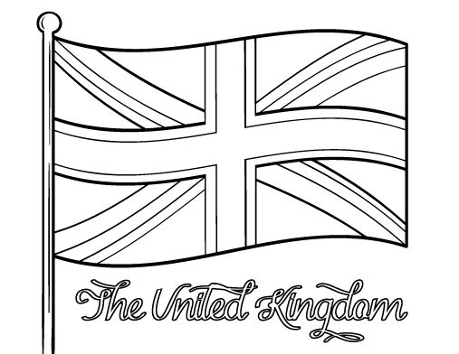 colouring pictures of the union jack flag flag united kingdom blackline illustration of the union of jack the union colouring flag pictures