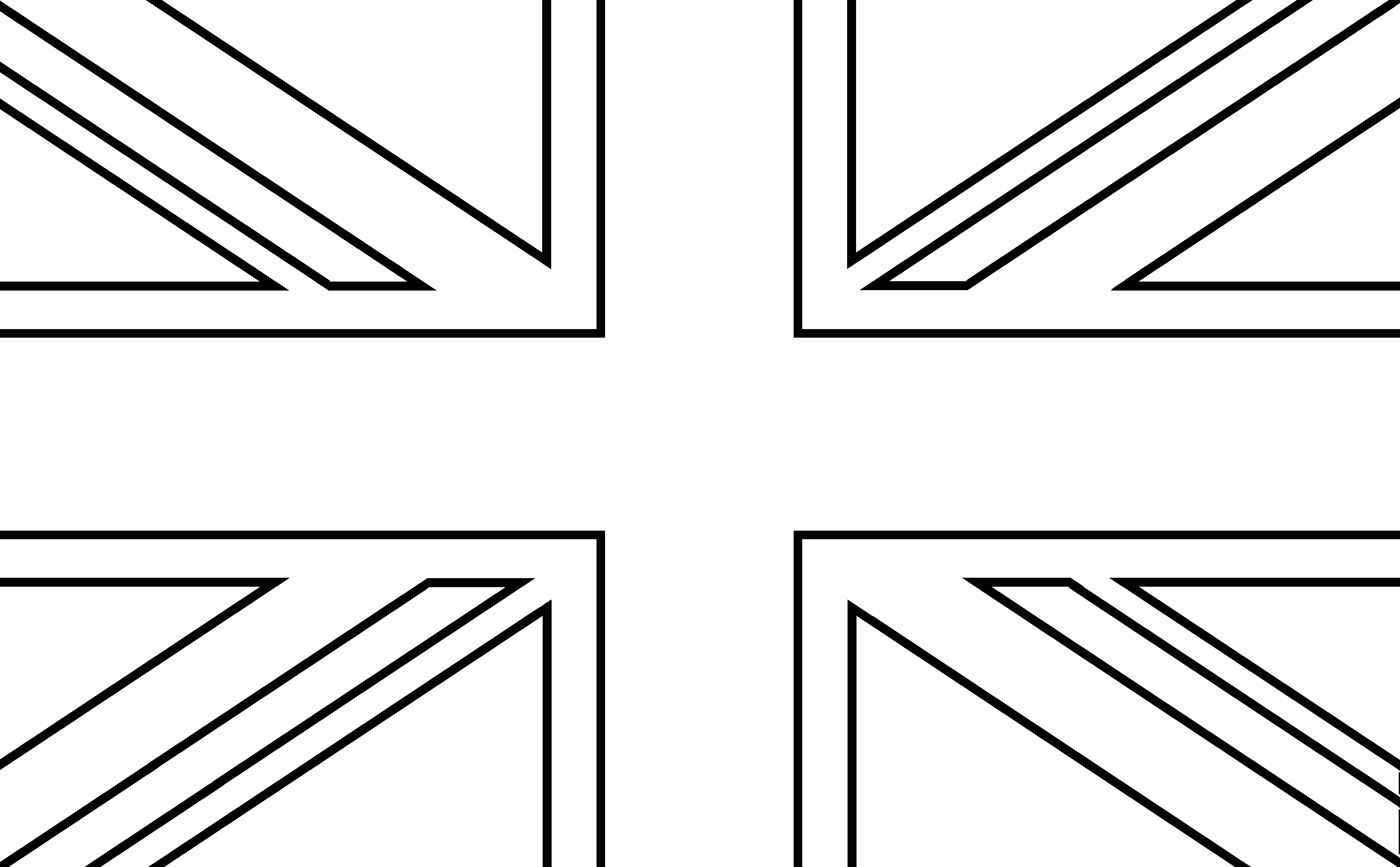 Colouring pictures of the union jack flag