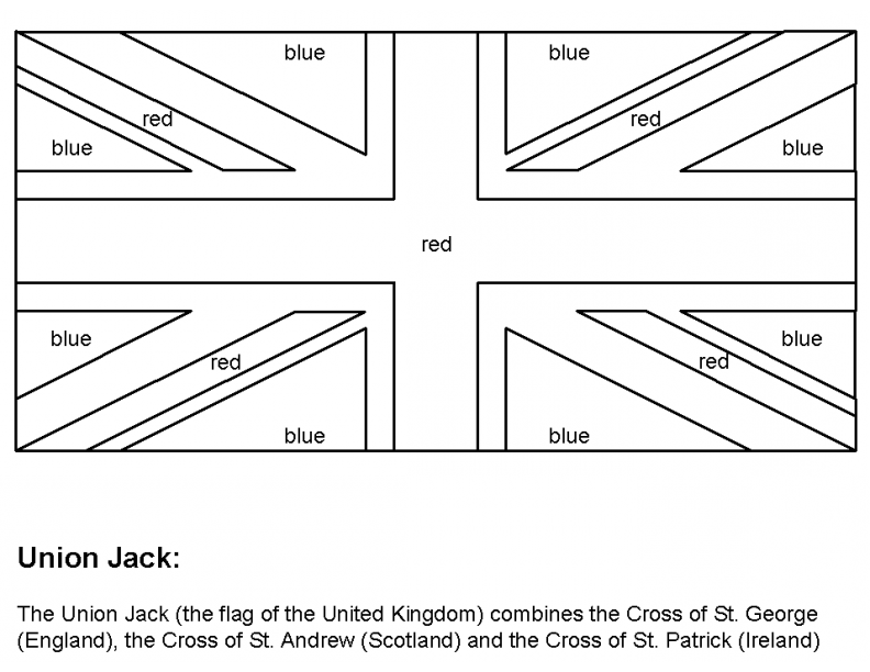 colouring pictures of the union jack flag united kingdom free coloring pages the of union colouring jack pictures flag