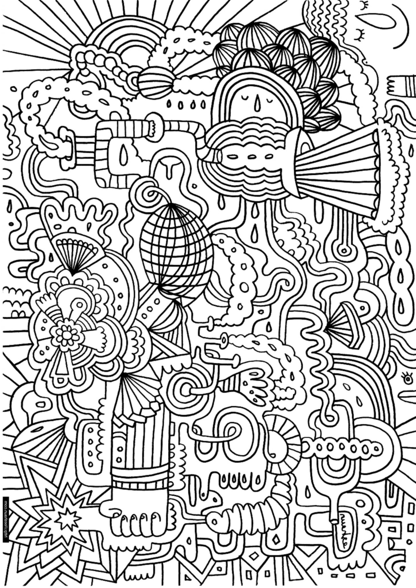 Complex colouring pages
