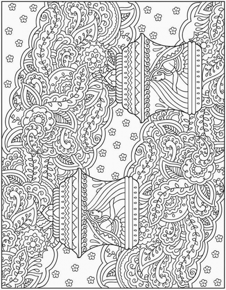 complicated coloring pages printable complex coloring pages for teens and adults best complicated coloring printable pages