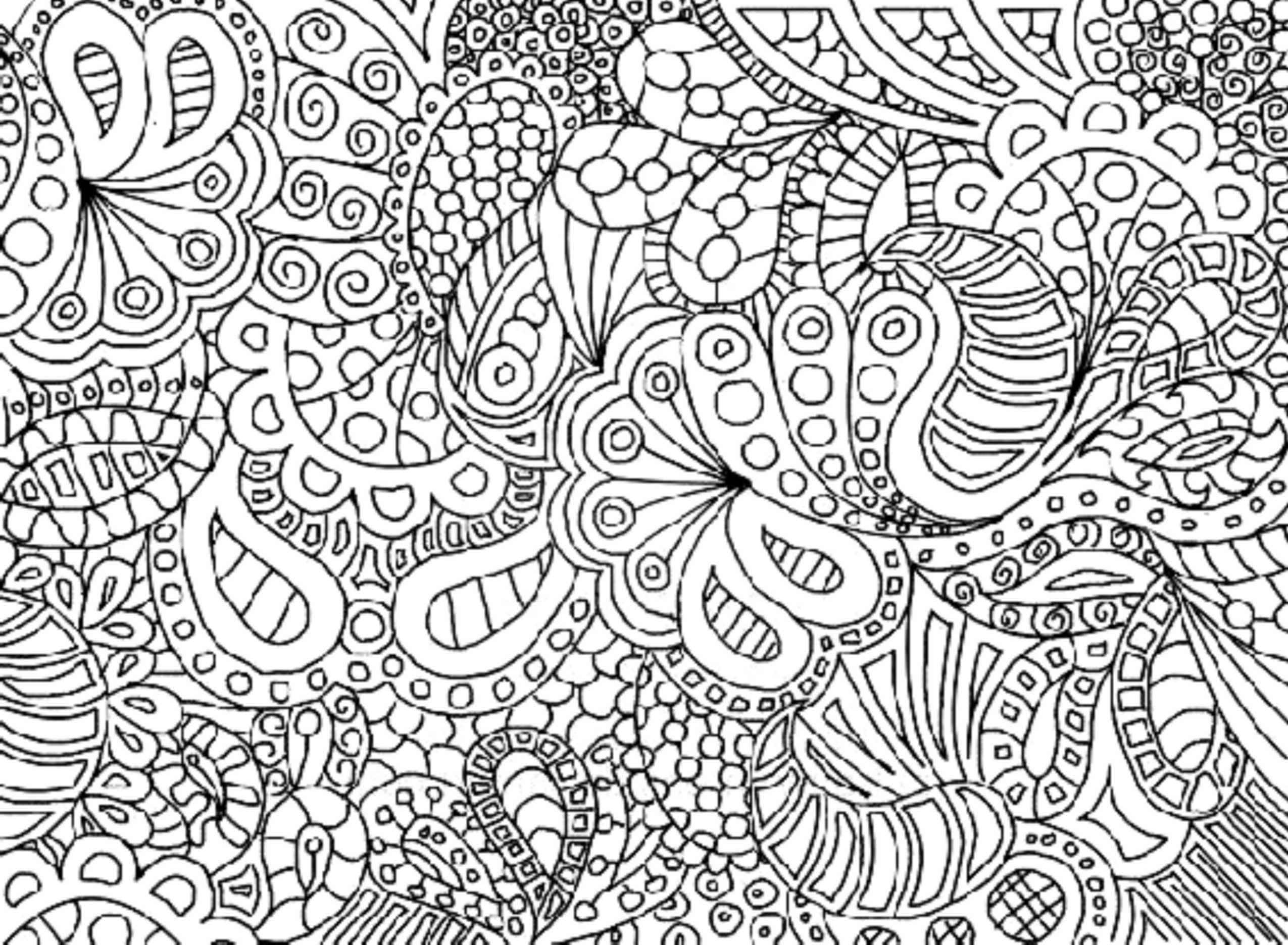 Complicated coloring pages printable