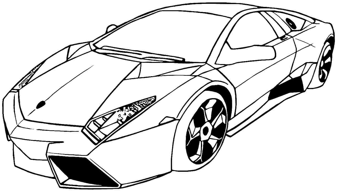Cool car colouring pages