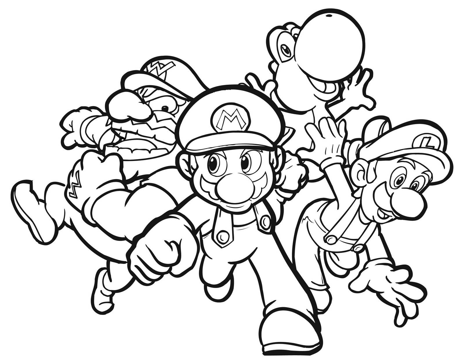 cool color in pictures super mario coloring pages free printable coloring pages cool pictures color in