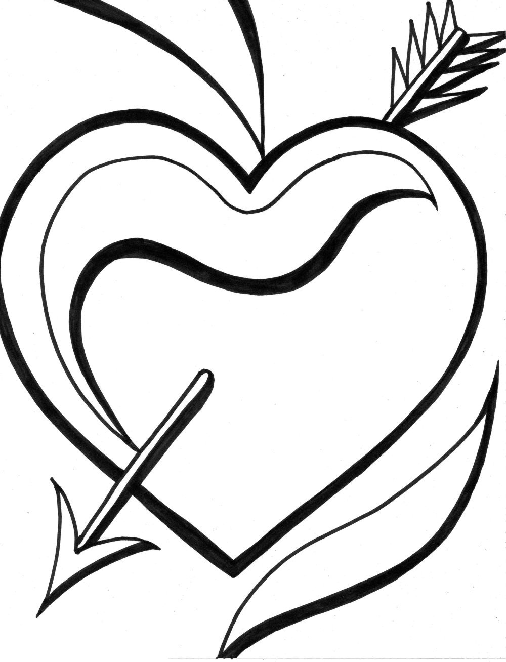 cool heart coloring pages friendship day special love heart drawing love heart coloring heart cool pages