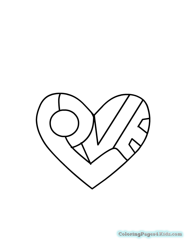 cool heart coloring pages heart shape coloring page getcoloringpagescom coloring heart cool pages