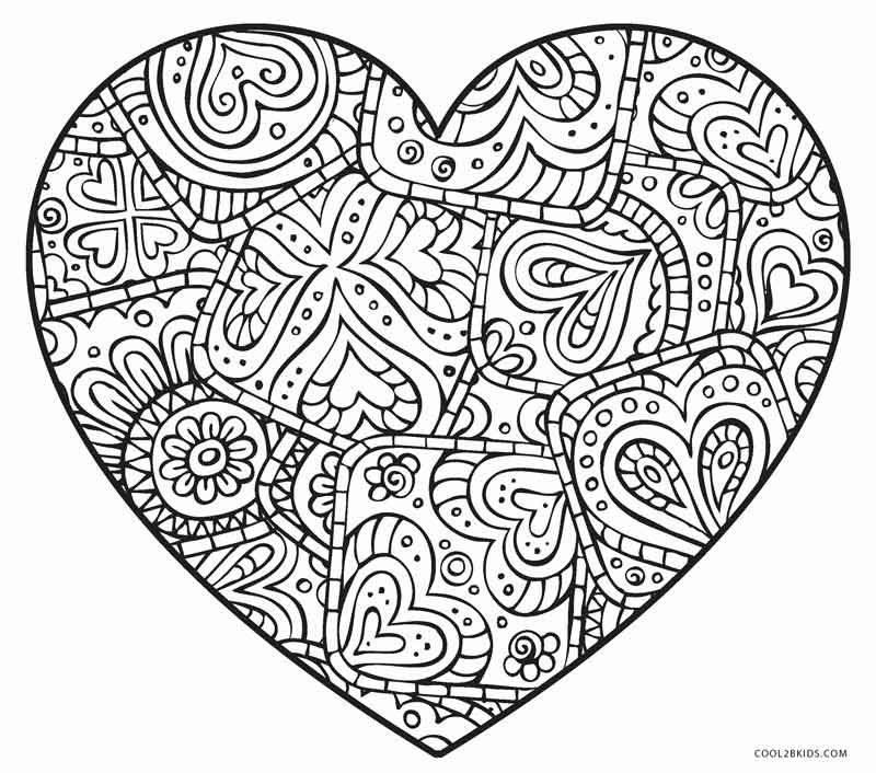 cool heart coloring pages printable cool heart coloring pages printable for kids pages cool coloring heart