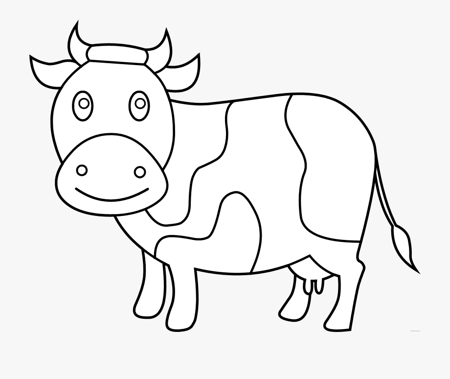cow outline cow clipart black and white outline pictures on cliparts cow outline