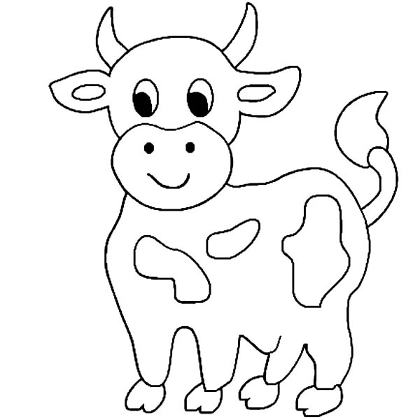cow outline cow outline drawing at getdrawings free download outline cow