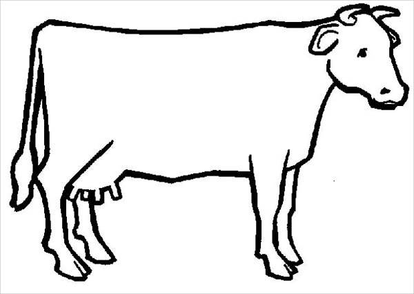 cow outline outline of a cow clipartsco outline cow