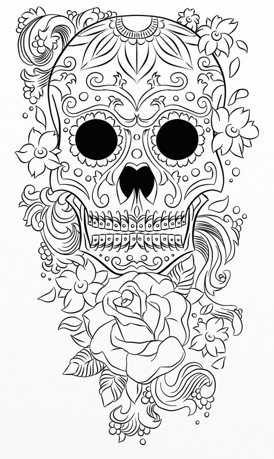 crayola sugar skull coloring book mexican skull zcoloriages pour adulte de style quot tÊte crayola skull coloring book sugar