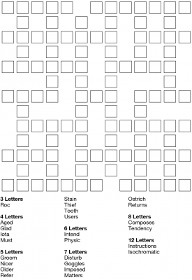 Criss cross word puzzles