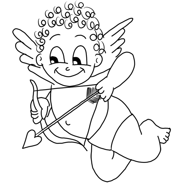 cupid coloring pages free downloadable coloring pages cartooning 4 kids how pages cupid coloring