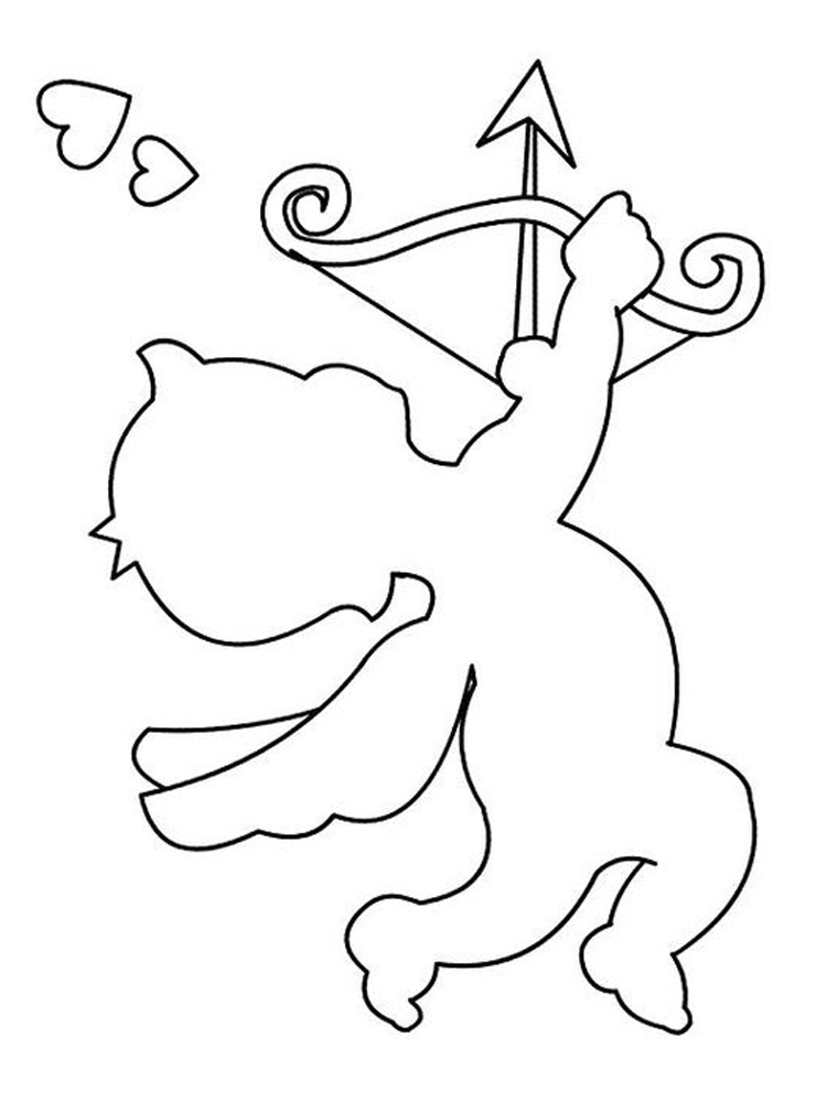 cupid coloring pages valentines cupid pictures clipartsco coloring pages cupid