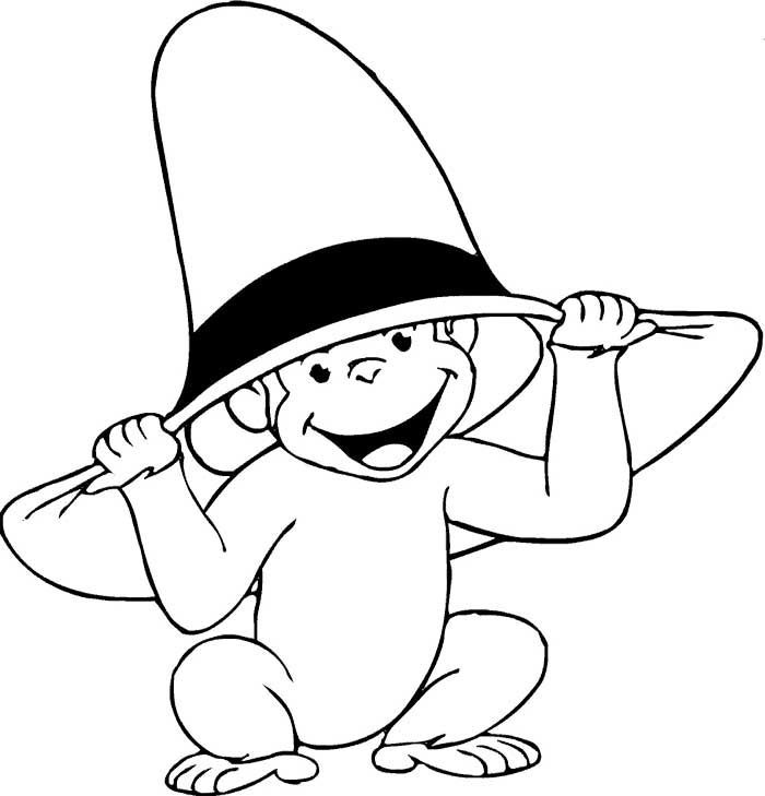curious george coloring curious george christmas coloring pages at getdrawings curious george coloring