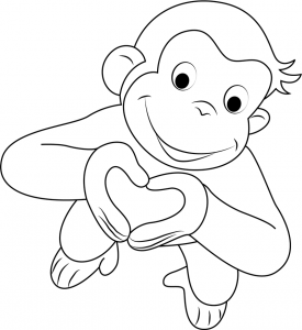 curious george coloring free kids coloring curious george eating a banana george curious coloring
