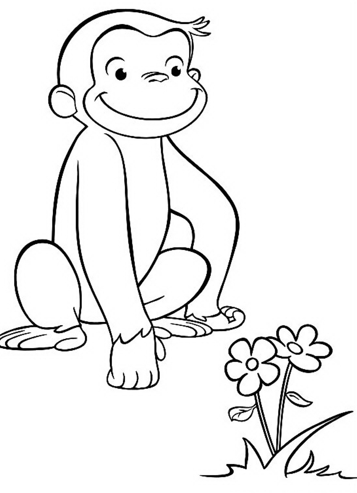 curious george coloring print download curious george coloring pages to coloring curious george