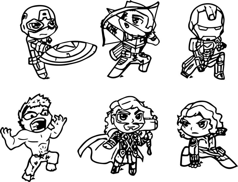 cute avengers coloring pages how to draw iron man chibi superheroes avengers cute avengers coloring pages