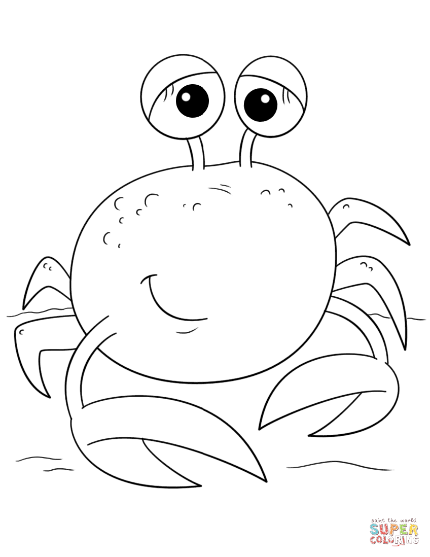 cute crab coloring pages crab coloring page beach party pinterest pages coloring crab cute