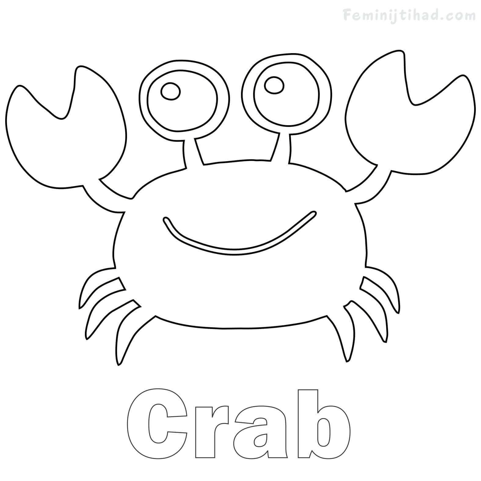 cute crab coloring pages crab coloring pages download and print crab coloring pages coloring pages crab cute